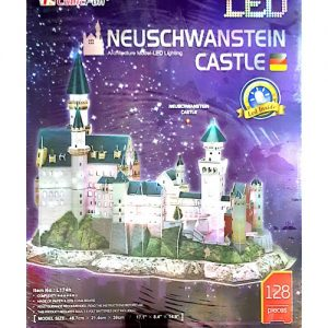 پازل سه بعدی کیوبیک فان مدل قصر نئوشوانشتاین دارای چراغ LED