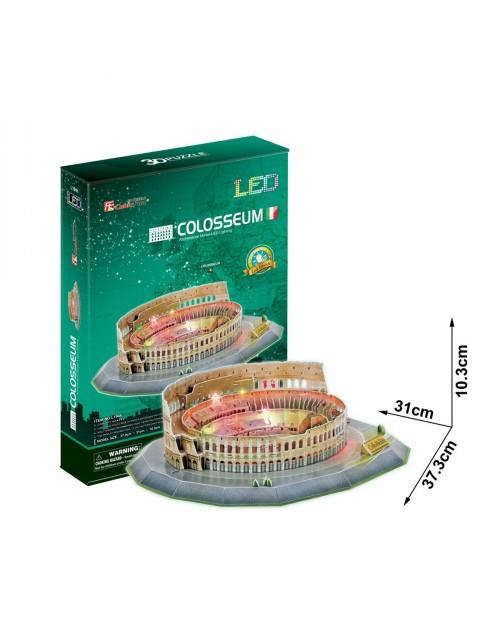 پازل سه بعدی کیوبیک فان مدل میدان کولوسئوم روم دارای چراغ LED