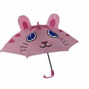 چتر بچه گانه سری برجسته مدل خانم گربه