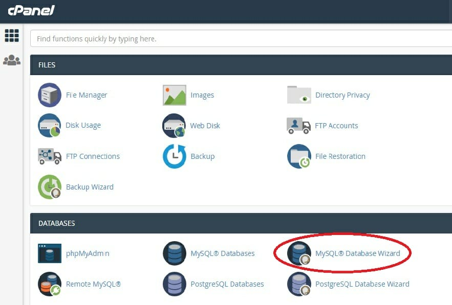 MySQL® Database Wizard-1
