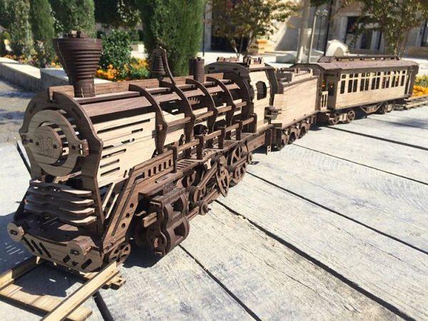 پازل سه بعدی قطار متحرک چوب چین 2