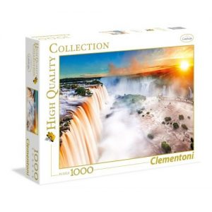 پازل 1000 تکه کلمنتونی سری تصاویر باکیفیت مدل آبشار