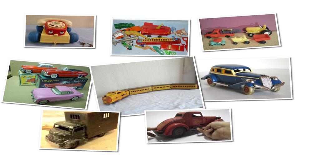 اسباب بازی های پلاستیکی و فلزی قرن 1بیستم -
