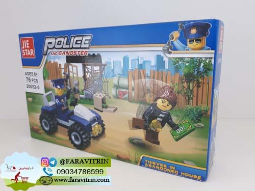 لگو JIE STAR سری POLICE AND GANGSTER مدل دزدی از خانه متروکه