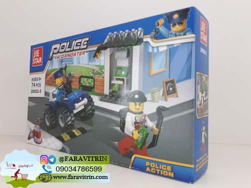 لگو JIE STAR سری POLICE AND GANGSTER مدل عملیات پلیسی