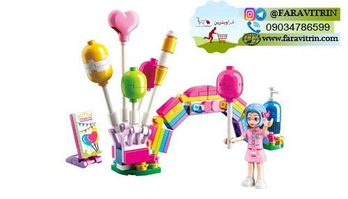 لگو QMAN سری Cherry Colorful Holiday مدل غرفه بادکنک های رنگارنگ 2