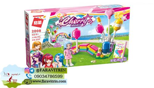 لگو QMAN سری Cherry Colorful Holiday مدل غرفه بادکنک های رنگارنگ