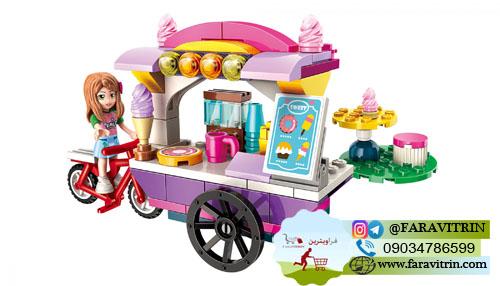 لگو QMAN سری Cherry Colorful Holiday مدل غرفه بستنی فروشی 2