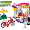 لگو QMAN سری Cherry Colorful Holiday مدل غرفه بستنی فروشی 3