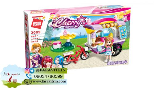 لگو QMAN سری Cherry Colorful Holiday مدل غرفه بستنی فروشی