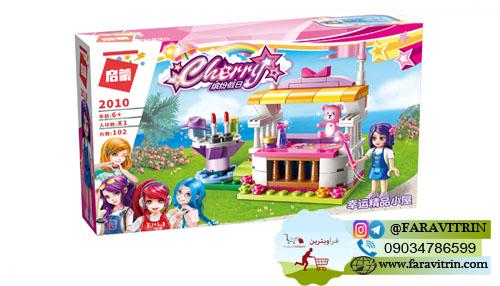 لگو QMAN سری Cherry Colorful Holiday مدل غرفه سوغات شانسی