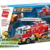 لگو QMAN سری Fire Rescue مدل کامیون فرماندهی آتش نشانی