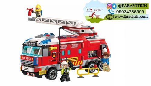 لگو QMAN سری Fire Rescue مدل کامیون فرماندهی آتش نشانی 2